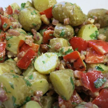 Pancetta and fennel Potato salad (low FODMAP)