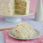 Lemon-poppy seed cake with vanilla-cream cheese frosting