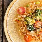 Thai Noodles with Spring Vegetables