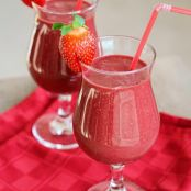 Strawberry Beet Chocolate Chia Smoothie