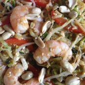 Shrimp Pai Thai with Zucchini Noodles