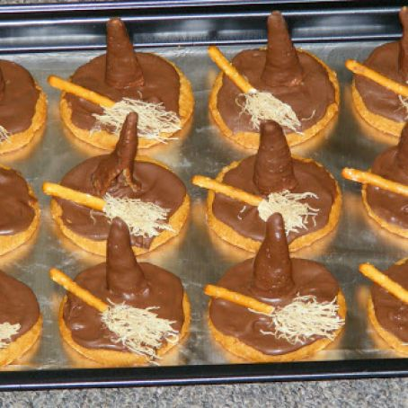 Melted Witch Halloween Cookies