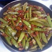 Bacon & Balsamic Glazed Sugar Snap Peas