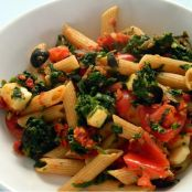 Sicilian Penne with Tilapia and Spinach