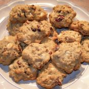Oatmeal Cranberry White Chocolate Chunk Cookies