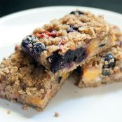Blueberry Peach Oat Crumble Bars