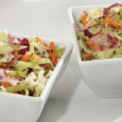 Coleslaw with Basil and Garlic Vinaigrette