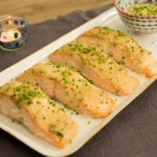 Baked Salmon with Honey Mustard Sauce (Valerie Bertinelli)