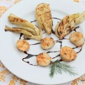 Balsamic Reduction with Grilled Scallops and Fennel