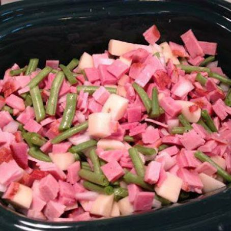 Crock Pot Ham or Polish Sausage and Green Beans