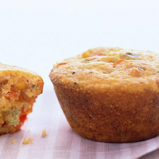 Red Pepper-Scallion Corn Muffin