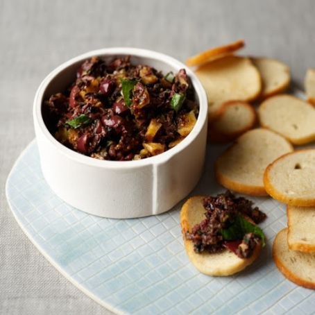 Black Olive Tapenade with Figs and Mint