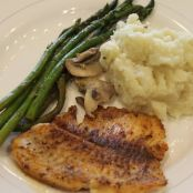 Cod with Asparagus and Mashed Cauliflower