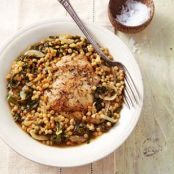 Chicken Thighs with Couscous & Kale