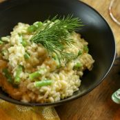 Risotto with French Green Beans & Dill