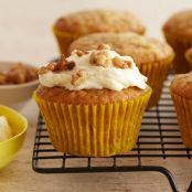 Banana Muffins with Mascarpone Cream Frosting
