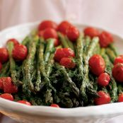 Healthy Roasted Asparagus Salad with Citrus Dressing