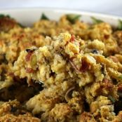 Gluten-Free Cornbread Dressing with Bacon