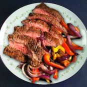 Grilled Steak with Red Onion