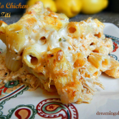 Buffalo Chicken Baked Ziti