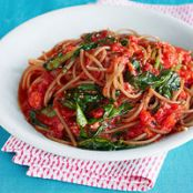 Spaghetti with Buttery Tomato Sauce & Farm Spinach