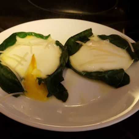 Poached Eggs with Spinach - Instant Pot