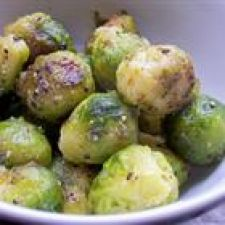 Brussel Sprouts roasted with Pomegranates & Vanilla Butter