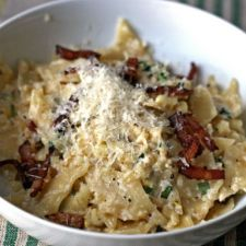 Pasta with Bacon and Corn 'Pesto'