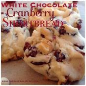 White Chocolate Cranberry Shortbread Cookies