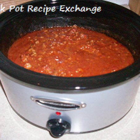 Thick, Thick Crock Pot Chili with Beans