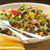 Healthy Black Bean Salad with Avocado Dressing