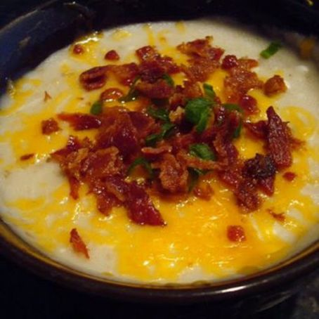 Baked Potato Soup with Cheese & Bacon