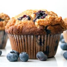 Blueberry Banana Muffins (Vegan/Sugar-free/Oil-free)