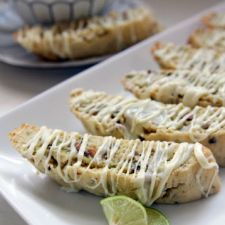 Key Lime and White Biscotti