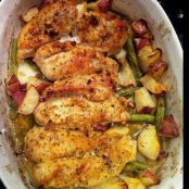 Garlic Lemon Chicken Bake