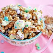 Candied Popcorn for Easter