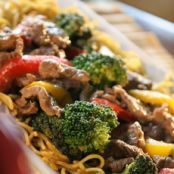 Beef Stir-Fry with Chow Mein Noodles