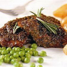 Lamb Steaks with Redcurrant Glaze