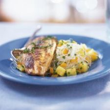 Grilled Tilapia on Pineapple Salsa Vermicelli