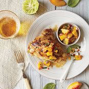 Grilled Chicken w/ Peach-Lime Salsa (Cooking Light)