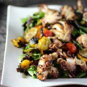 Charred Baby Octopus Salad