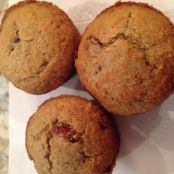 Cranberry Orange Pecan Oat Bran Muffins