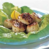 Charcoal Grilled Scallops