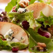 Pear & Field Green Salad with Pomegranate Vinaigrette