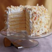 Coconut cake with Passion Fruit Filling