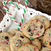Chocolate & Candy Cane Buttercream Cookies