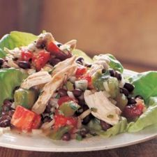 Turkey Salad with Tomatoes, Black Beans and Cilantro