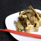 Oyster Mushrooms with Marinated Tofu