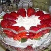 Strawberry Cheescake Torte