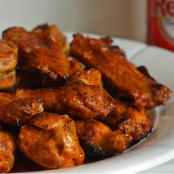 Grilled Chicken Wings with Seasoned Buffalo Sauce